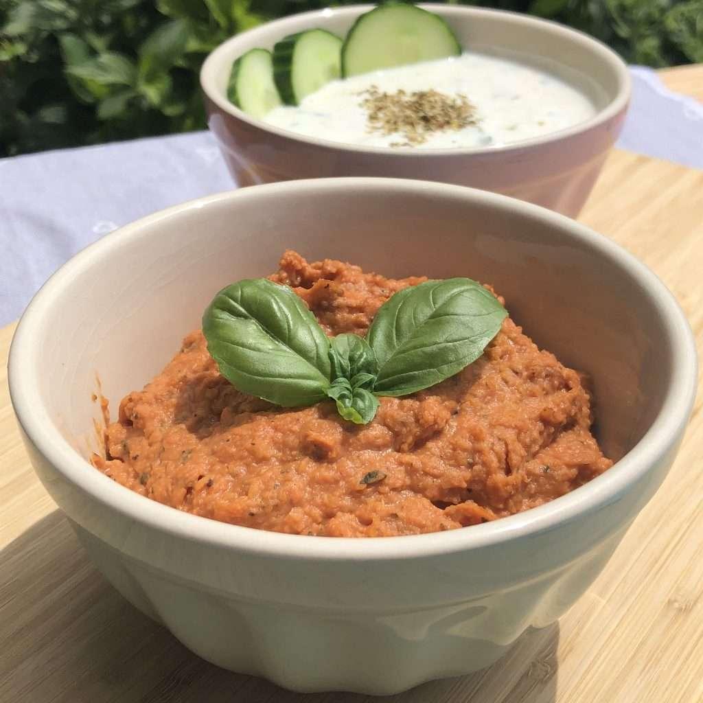 Kichererbsen-Tomaten-Dip